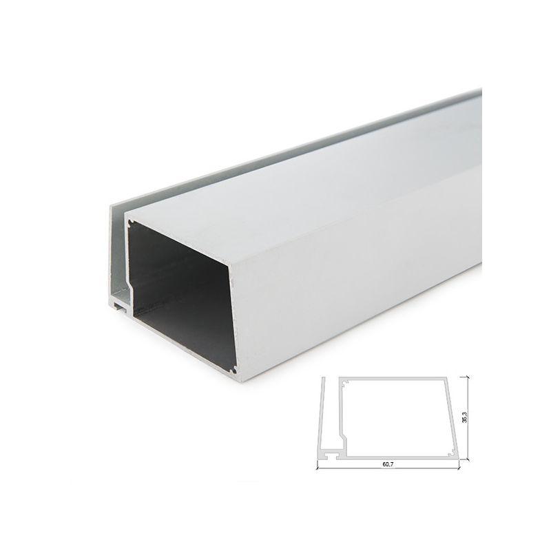 Profilo Alluminio Per Striscia Led Ripiani Bicchiere Spessore 8Mm - Custodia Del Trasformatore - Striscia x 2M (SU-G004-2M) - GREENICE
