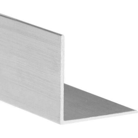 Profilo Angolare 1 Metro Alluminio Nero Spazzolato mm 15X15X1