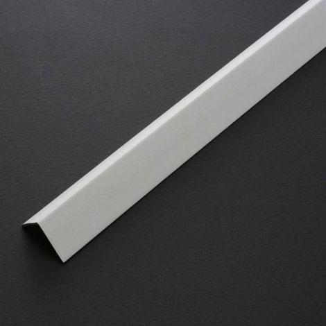 """main image of """"PROFILO ANGOLARE PARASPIGOLO IN PLASTICA PVC BIANCO 20X20 H 2,60 MT x 2 ASTE"""""""