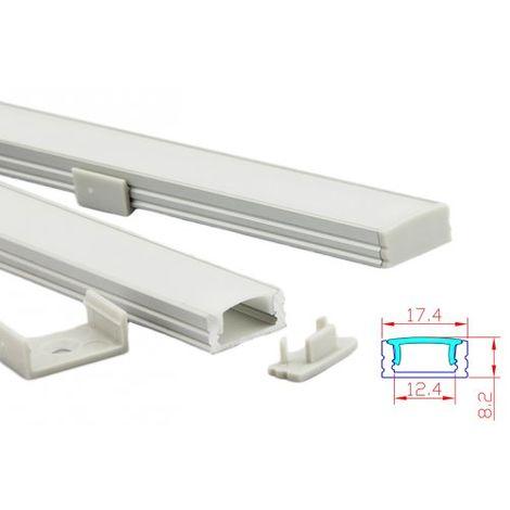 """main image of """"Profilo Canalina Barra Alluminio Led Standard Colore Bianco 1 Metro"""""""