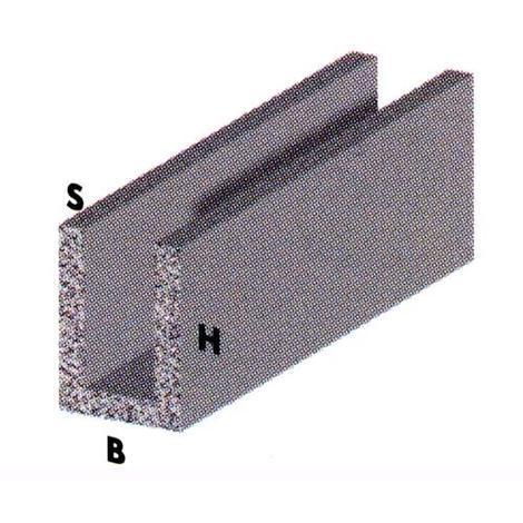 """main image of """"PROFILO in ALLUMINIO ARGENTO mod. CANALINO U 8X8X1 mm 2 Metri conf. 5pz"""""""