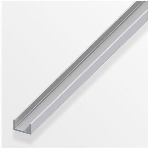 """main image of """"Profilo in alluminio U 10x11,5mm argento 1mt"""""""