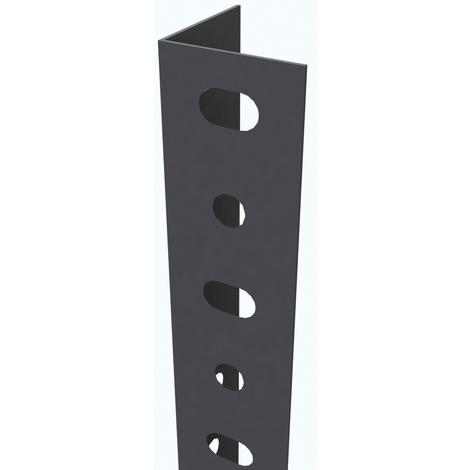 Home System Cremagliera Doppia Nero 200 cm