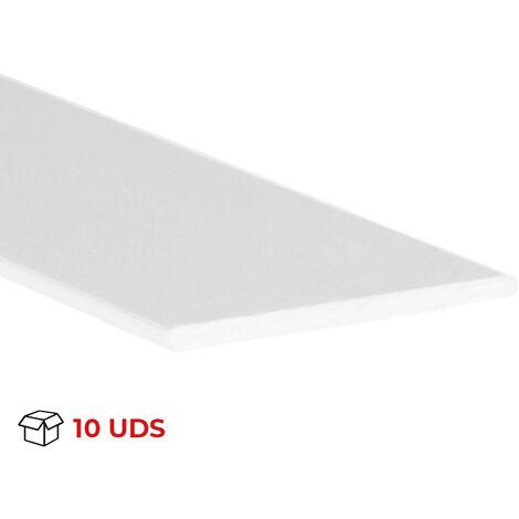 Profilo piatto, Alluminio, Bianco, 1000mm di lunghezza. Marchio REI