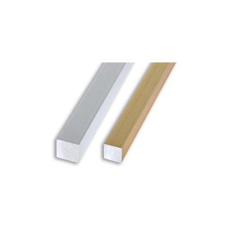 Profilo quadrato pieno alluminio oro satinato mm. 10x10 metri 2, Profilpas