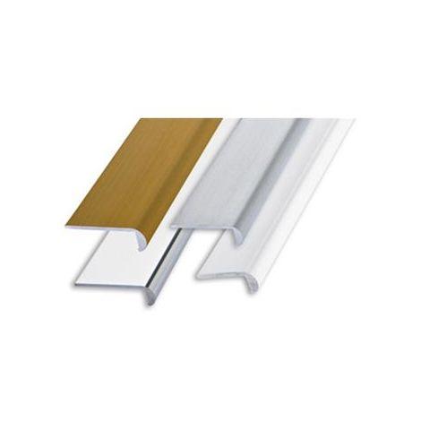 Profilo unghietta alluminio oro satinato mm 22x1 mt.2 PROFILPAS