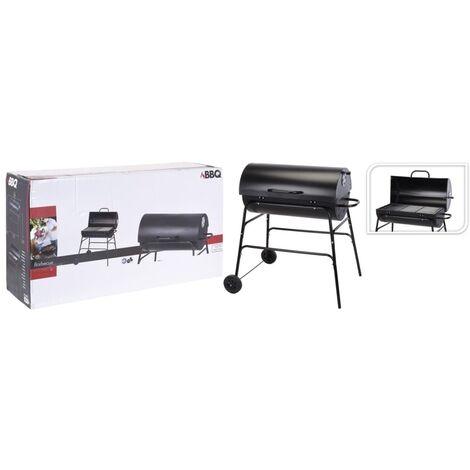 ProGarden Barbecue au charbon en forme de cylindre 75 cm