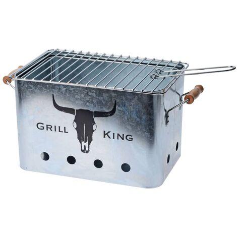 ProGarden Barbecue avec poignées en bois Zinc