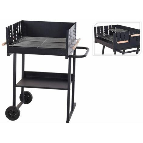 ProGarden Charcoal Barbecue Rectangle Black - Black