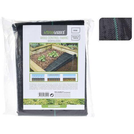 ProGarden Cubierta de suelo antimaleza negra 2x5 m - Negro
