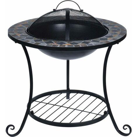 ProGarden Fire Bowl Mosaic Design 58x58x44 cm - Black