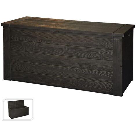 ProGarden Garden Storage Box Wood Pattern 300 L - Black
