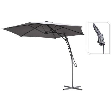 ProGarden Hanging Parasol Grey 300 cm - Grey