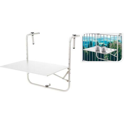 ProGarden Table de balcon Blanc mat