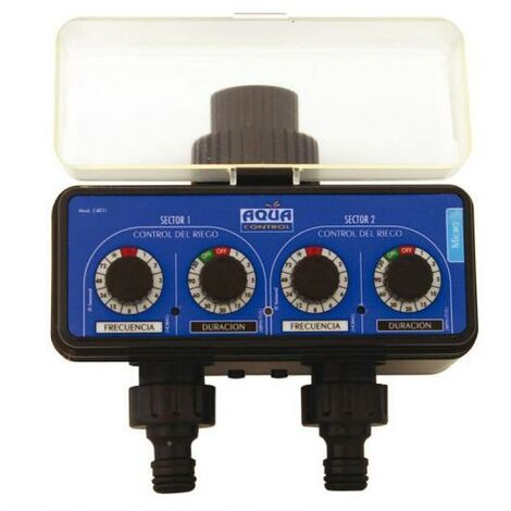 Programador De Riego Aqua Control C4011 Doble Salida Para Grifo