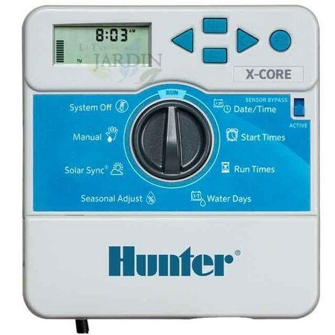 Programador de riego Hunter XCore 8 zonas interior