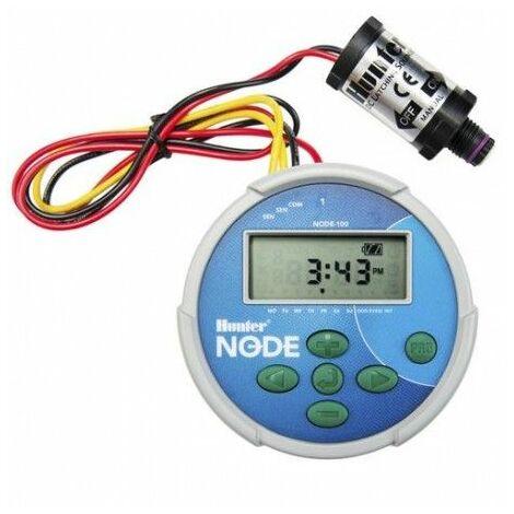 Programador de riego NODE-100 Hunter + solenoide de 9V