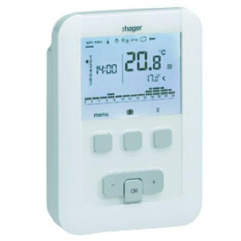 Programmable thermostat hager digital 230v 7 days - HAGER : EK530
