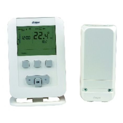 Programmable thermostat radio ek560 batteries lr3 - HAGER : EK560