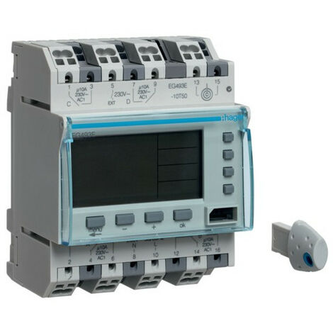Programmateur annuel 4 voies 4M (HAG EG493E)
