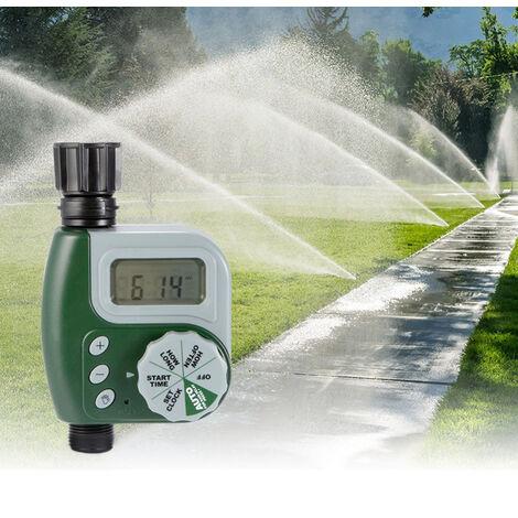 Programmateur Arrosage,Tuyau Numérique Robinet Minuterie En Plein Air Automatique Arrosage Système D'arrosage Contrôleur D'irrigation avec 1, Sortie pour Jardin Plantes..