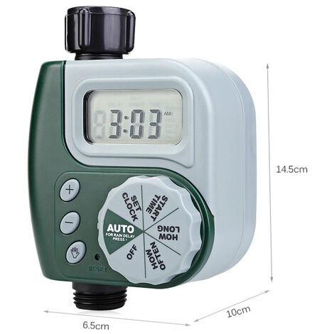 Programmateur Arrosage,Tuyau Numérique Robinet Minuterie En Plein Air Automatique Arrosage Système D'arrosage Contrôleur D'irrigation avec 1Sortie pour Jardin Plantes