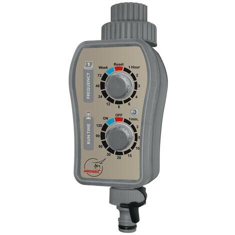 Programmateur d'arrosage nez de robinet Jardibrix à 1 voie à pile (2 x 1,5V AA) - PNR16