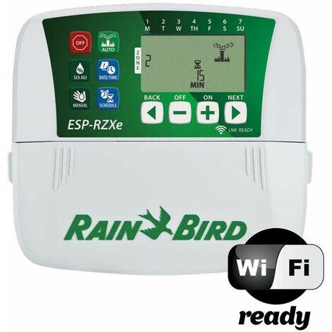 Programmateur d'arrosage résidentiel série ESP-RZXe Rain Bird - 8 voies - Gris et vert