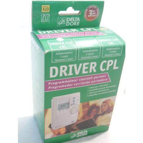 Programmateur de chauffage par courant porteur CPL 1 zone hebdomadaire DRIVER 210 DELTA DORE 6051103