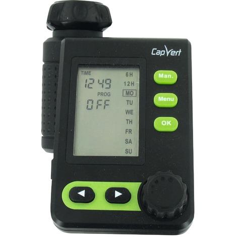 Programmateur électronique LCD CPV527 Plus Cap Vert - 1 voie