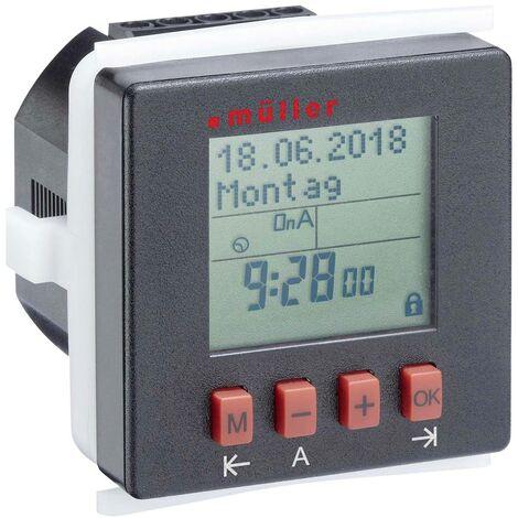 Programmateur horaire pour encastrement sur panneau Müller SC2410pro SC 24.10 pro numérique 230 V/AC 8 A/250 V 1 pc(s)