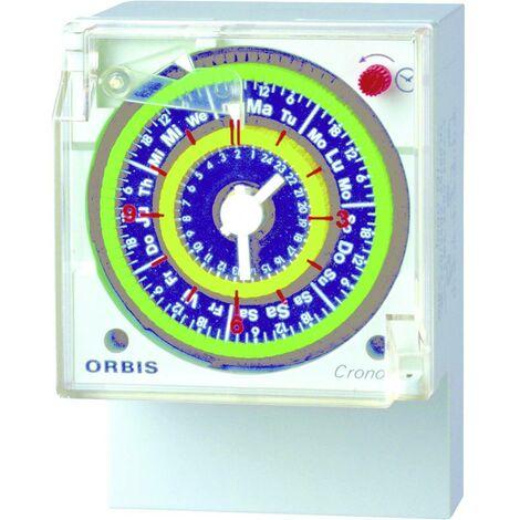 Programmateur horaire pour montage en saillie ORBIS Zeitschalttechnik CRONO QRD 230 V OB050623 analogique 250 V/AC 1 pc(s)