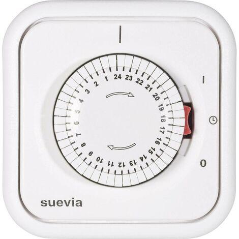 Programmateur horaire pour montage encastré analogique Suevia 348.002 programme journalier 2200 W IP20
