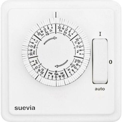 Programmateur horaire pour montage encastré Suevia 258 W 1,75 SU280440 analogique programme hebdomadaire 2200 W IP20 1 pc(s)