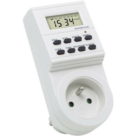 Programmateur horaire pour prise électrique numérique InterTechno programme hebdomadaire 3600 W
