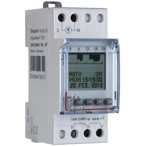 Programmateur horaire pour rail Legrand 412631 412631 numérique 16 A/250 V 1 pc(s) W38766