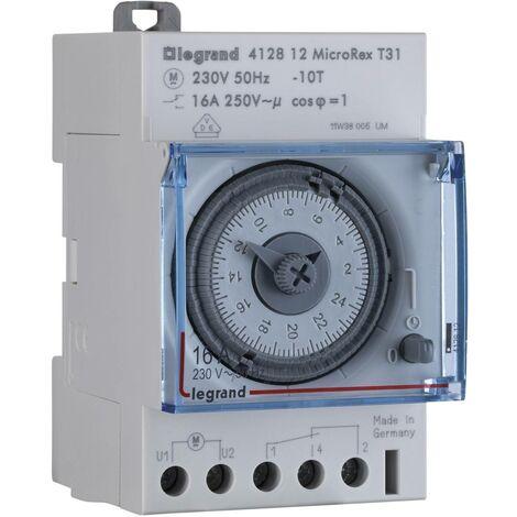 Programmateur horaire pour rail Legrand 412812 412812 analogique 16 A/250 V 1 pc(s) W38993