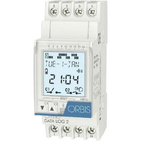 Programmateur horaire pour rail ORBIS Zeitschalttechnik DATA LOG 2 230 V OB175012 numérique 250 V/AC 1 pc(s)