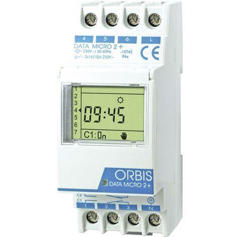 Programmateur horaire pour rail ORBIS Zeitschalttechnik DATA MICRO-2 + 230 V OB171912N numérique 250 V/AC 1 pc(s)