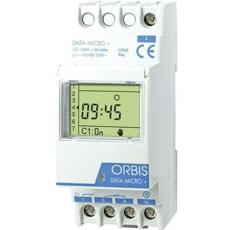 Programmateur horaire pour rail ORBIS Zeitschalttechnik DATA MICRO + 230V OB172012N numérique 250 V/AC 1 pc(s)