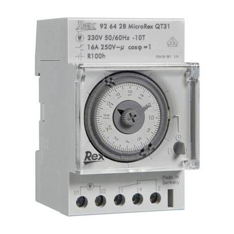 Programmateur horaire pour rail REX Zeitschaltuhren 926116 926116 230 V 16 A/250 V 1 pc(s)