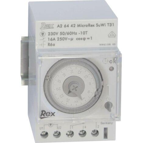 Programmateur horaire pour rail REX Zeitschaltuhren A26442 A26442 230 V 16 A/250 V 1 pc(s)