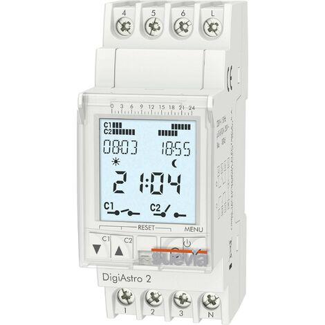 Programmateur horaire pour rail Suevia DigiAstro 2 SU178012 numérique 230 V/AC 16 A/250 V 1 pc(s) R532951
