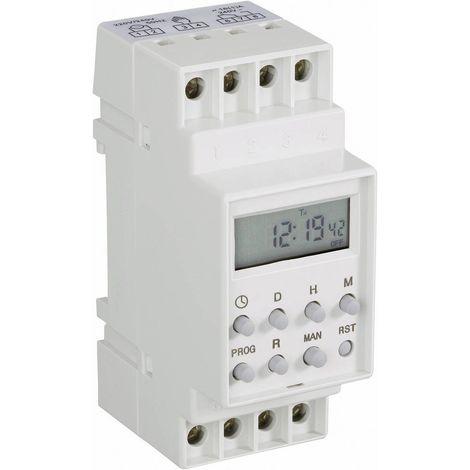 Programmateur horaire pour rail TRU COMPONENTS TC-8719808 numérique 230 V/AC 16 A/250 V 1 pc(s)