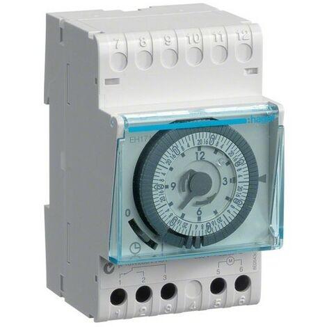 Programmateur interrupteur horaire 1 voie 7 jours + réserve 200h