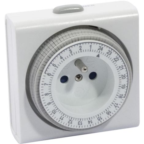 ProgramMateur mécanique Chacon 3500W Blanc