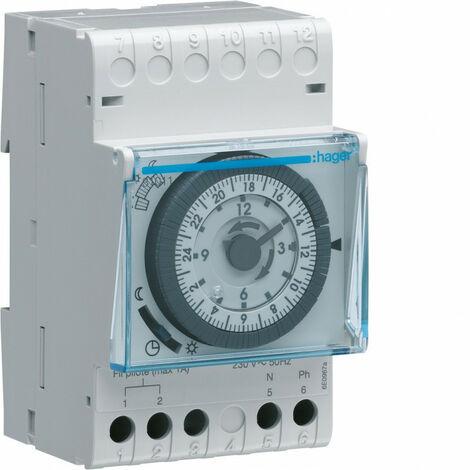 Programmateur modulaire analogique chauf élec avec fil pilote 1 zone 24h 230V (31011)