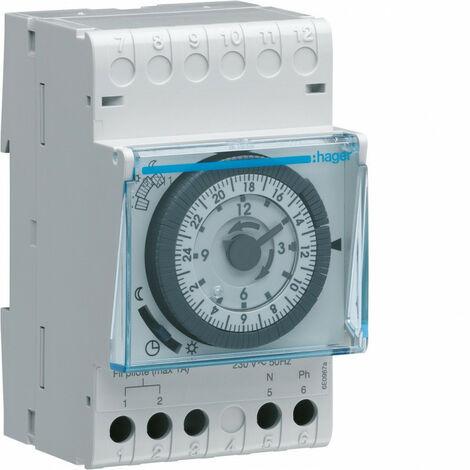Programmateur modulaire analogique chauf élec avec fil pilote 1 zone sur 7j 230V (31711)