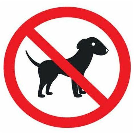 prohibido adhesivo de polímero plastificado perro UV