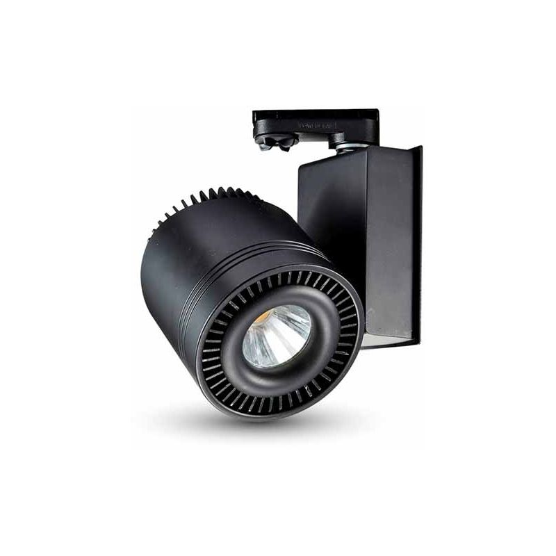 VT-4535 Lampada track light led da binario cob 33W CRI >95 bianco naturale 4000K corpo nero - sku 1234 - V-tac